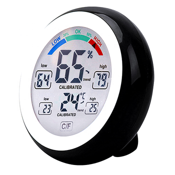 Wireless comfort display round shape touch screen Digital Thermometer Hygrometer