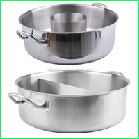 Induction Commercial electric stainless steel divided hot pot