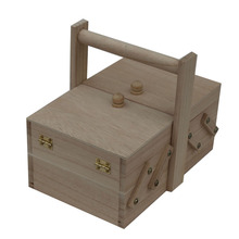 birch wooden sewing box supplier