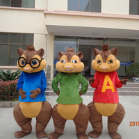 Factory direct sale cosply alvin and the chipmunks costumes for adults