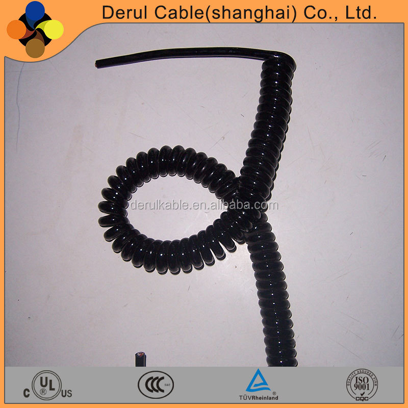 High quality spring coiled wire cable for electric motor car