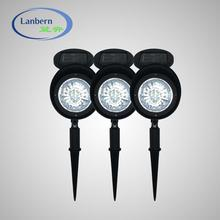 Wholesale black landscape led solar spotlight for garden JD-126E