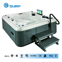 Sunrans new design Acrylic hot tub outdoor spa cover pool spas for 5 persons