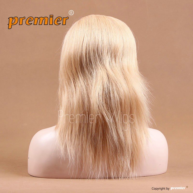 12inch 27# Silky Straight Full Lace Wig Blonde human hair full lace wig