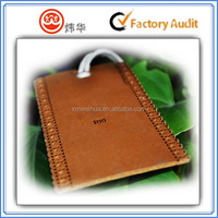 silk screen leather hang tag