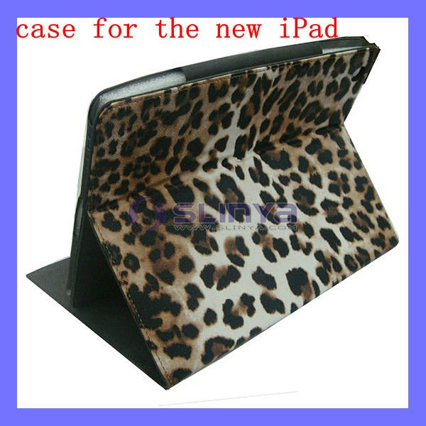 Leopard Case for iPad 3 2 4 Leather Cover Skin