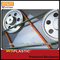 High performance diameter 6mm orange green rough round urethane drive belt