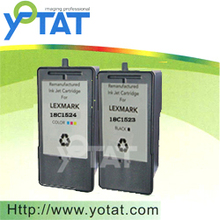 Remanufactured ink cartridge for LEXMARK 23 (18C1523) 24 (18C1524)