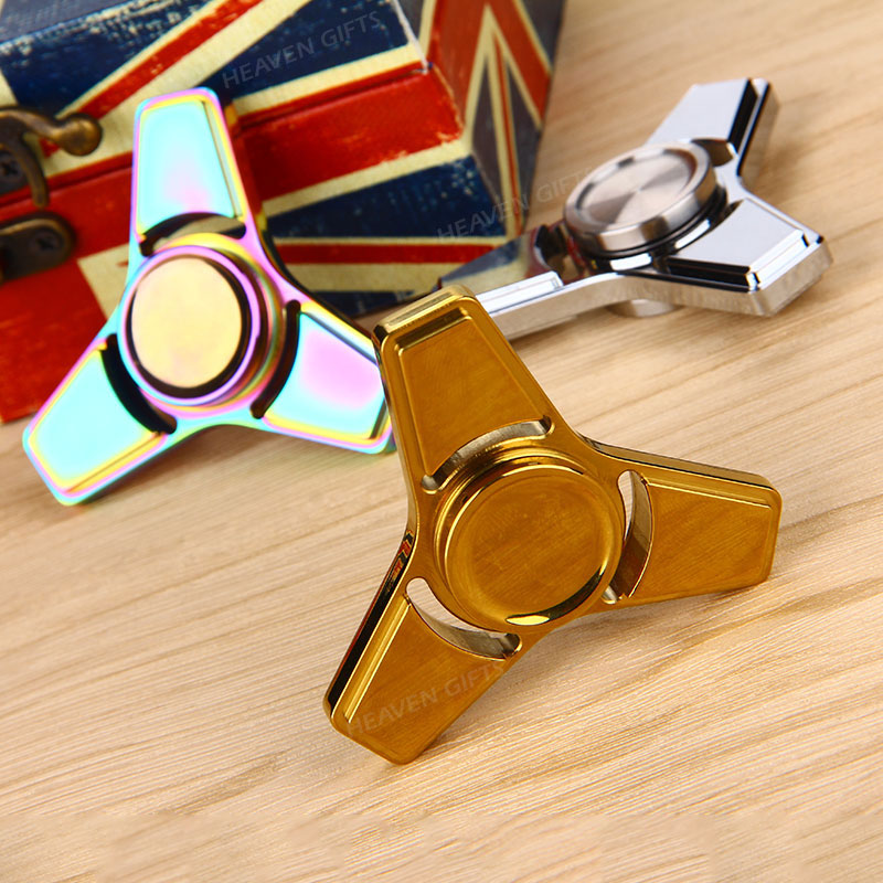 Hybrid Ceramic V2 EDC Triangle Fidget Spinner Educational Toys for Children Adults
