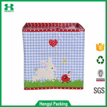 Custom printing OEM design glossy laminated pp non woven fabric foldable clothes storage box