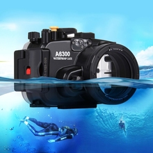 China brand PULUZ 40m Underwater Depth Diving Case Waterproof Camera Housing for Sony A6300