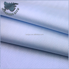 100% cotton light blue herringbone solid twill fabric for shirts