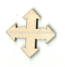 Hot sell Crossed Arrow Sign Laser Cut Unfinished Wood Shapes made in China