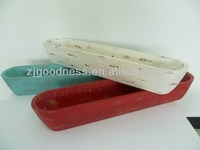 Hot Selling 2014 Newest Distressed White Wooden Tray