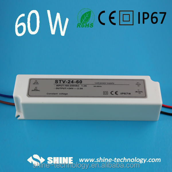 Waterproof power supply 60w single output, single output 12v led driver, led transformer with CE&RoHS
