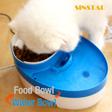 Plastic Durable Pet Bowl Automatic Dog Food Feeder