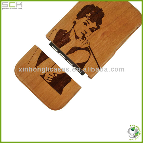 Hot sellling Specail design carving wood phone case for iphone 5,5s