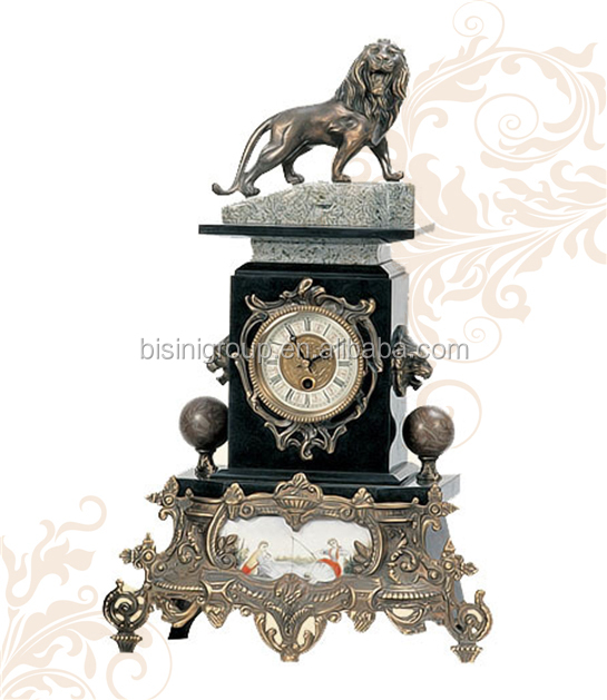 Antique French Bronze Clock, Luxury Mechanism Mantel Art Clock