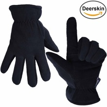 OZERO -20F Cold Proof Thermal Mens Motorcycle Leather Winter Gloves