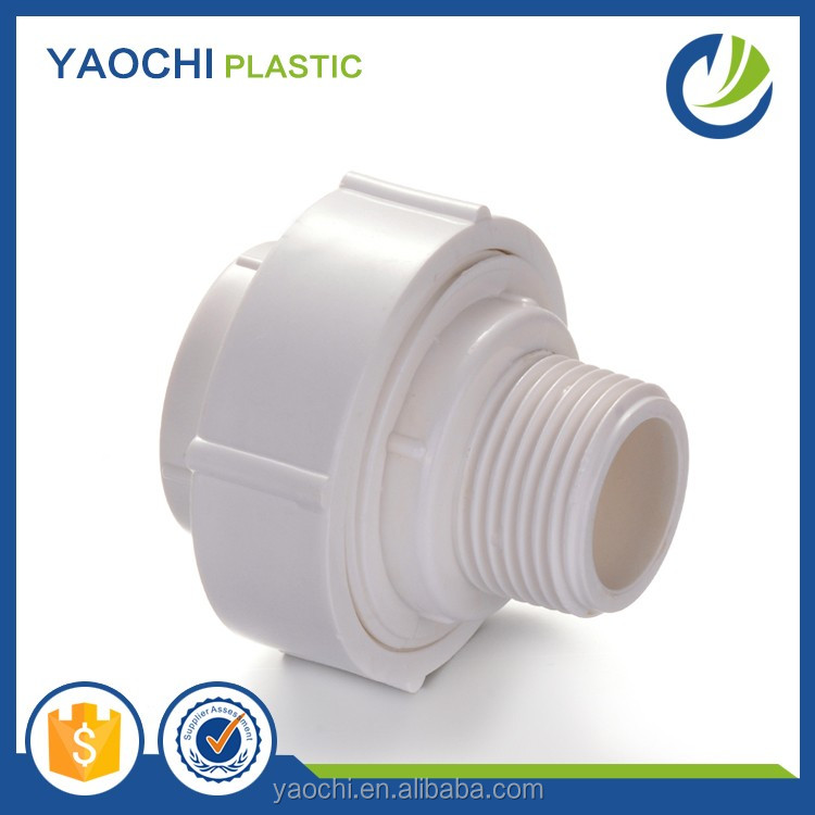 Manufacturer Good quality PVC BSPT THREAD PIPE FITTINGS PVC Female & Male Union PLASTIC PIPE FITTINGS