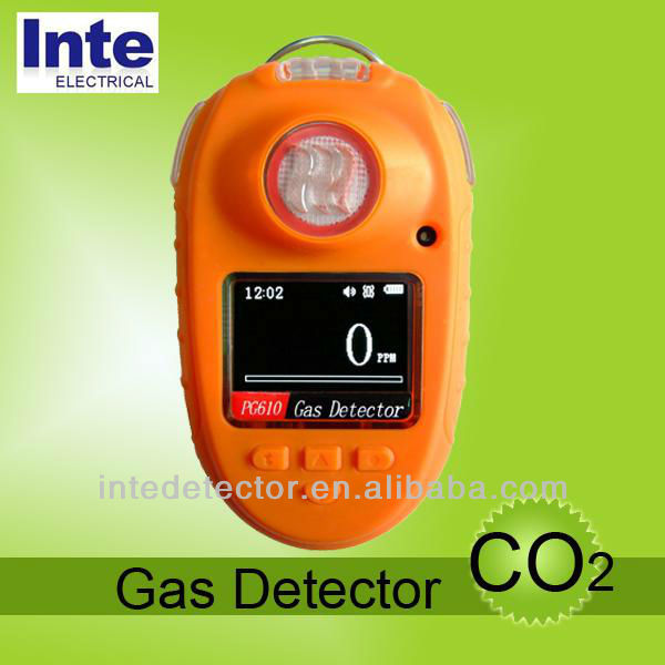 PG610 pocket CO2 gas monitor detector with highlighted OLED screen
