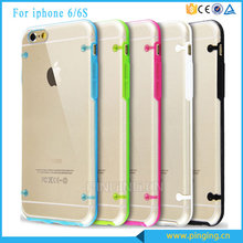 Hot Selling Four Dots Luminous Crystal Transparent Mobile Phone Cover For Iphone 6S