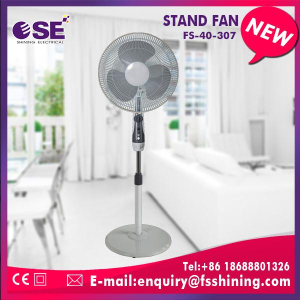 New invention 16 inch electric stand fan stainless steel for wholesales