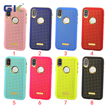 [GK] Stars Design Electroplating TPU Candy Color PC 2 in 1 Combo Case For iPhone X Cover