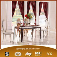 TH372 New Design Stainless Base Artifical Marble Top Dining Table Design