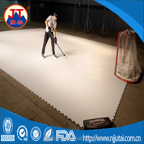 White HDPE sliding hockey synthetic ice rink sheets