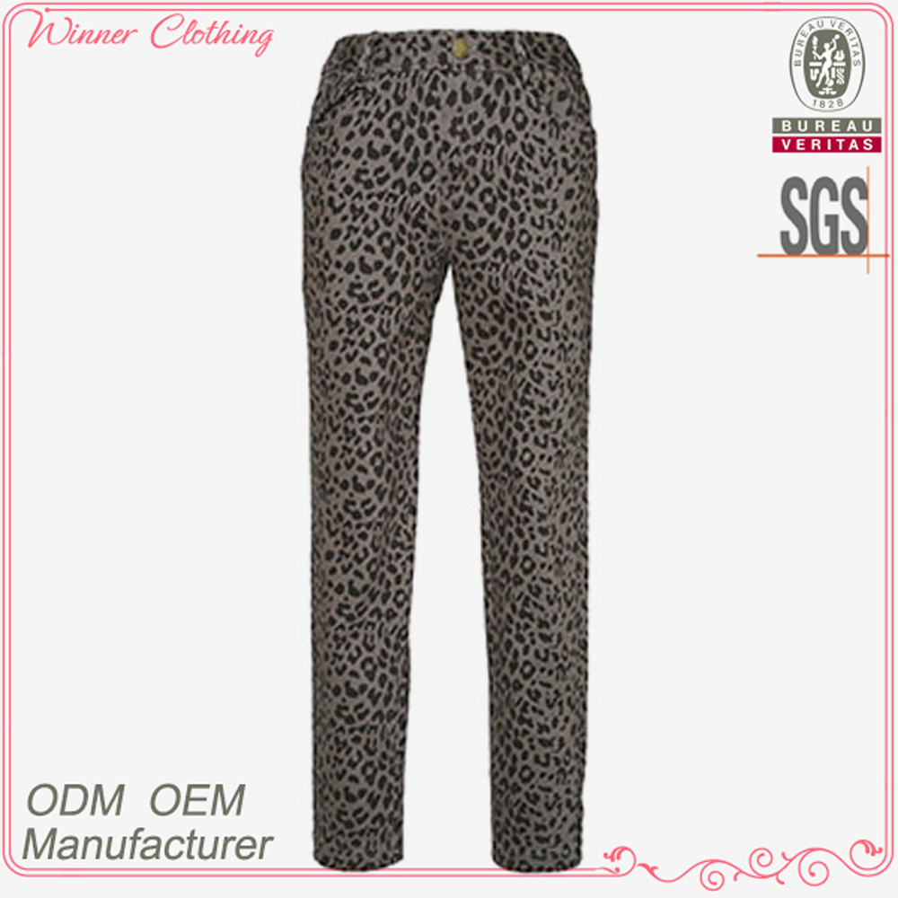 Trousers manufacturer latest long length printed plus size harem pants