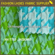 shaoxing textile new design for ladies roma jacquard jacquard jersey knit fabric weft knitted jacquard fabric