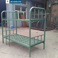 metal bed frame factory price dobule and single military stackable bed