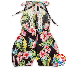 Vintage Boutique Branded Kids Clothes Floral Baby Body Suit OEM Service Organic Cotton Baby
