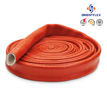 Reliable bendy abrasion resistant protect wires and cables fiberglass fire sleeve for hydraulic hose China supplier