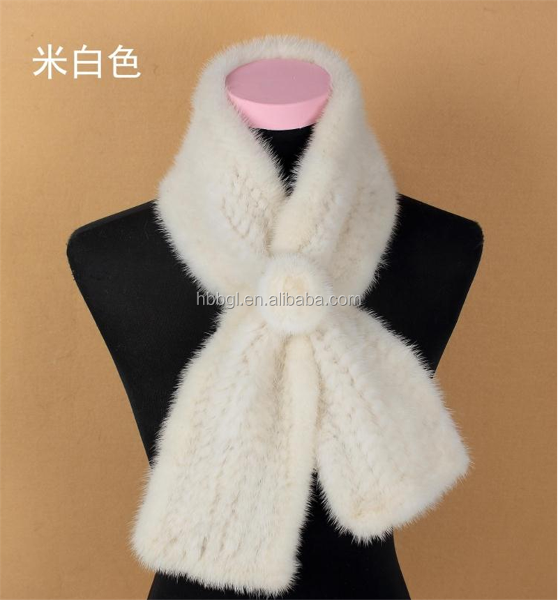Fur factory wholesale news fashion real fox / mink fur scarf for women and ladies