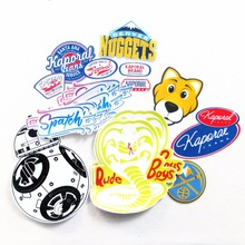 quote for your own designed full color self adhesive sticker printing private shaped die cut pvc logo sticker