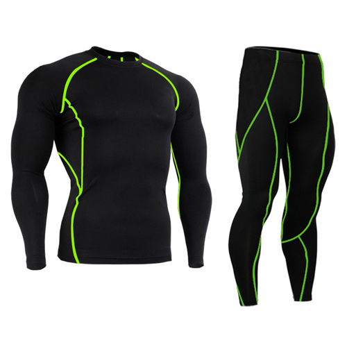 GYM Weight Lifting Running Bodybuilding Skin Tights Compression Running Tights Mens Compression Base Layer Pants