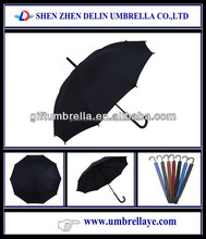 Auto open oem curve handle straight umbrella for sale