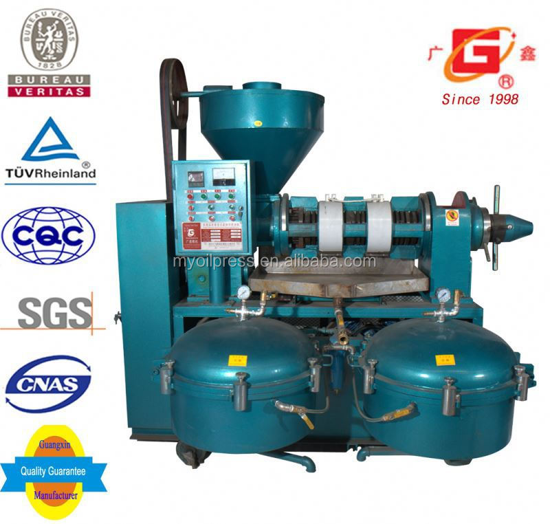 farm use cocoa oil physical screw press large oil extruding equipment with filter
