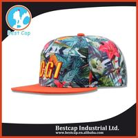 3D embroidered logo floral import 5 panel hat