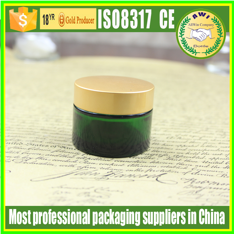 Skin Care Cream Use and Bamboo Cap Material cosmetic packaging cream jars 50g