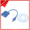 Wholesale Male to female USB 3 to VGA cable Adapter