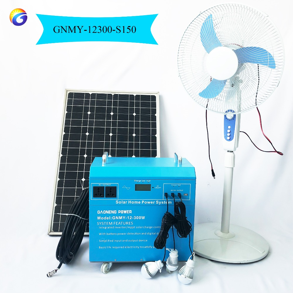Off Grid Mini Home Solar Power System with 300W Output and 150W Solar Panels
