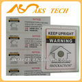 Shockaction Tilt Label Sensitive Indicator for Precision Equipment Shipping
