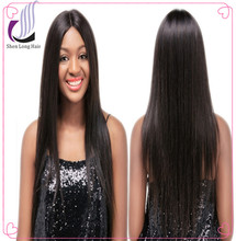 "8""-30"" Natural Color Silky Straight Full Lace Wigs 100% Peruvian Virgin Human Hair Wig"