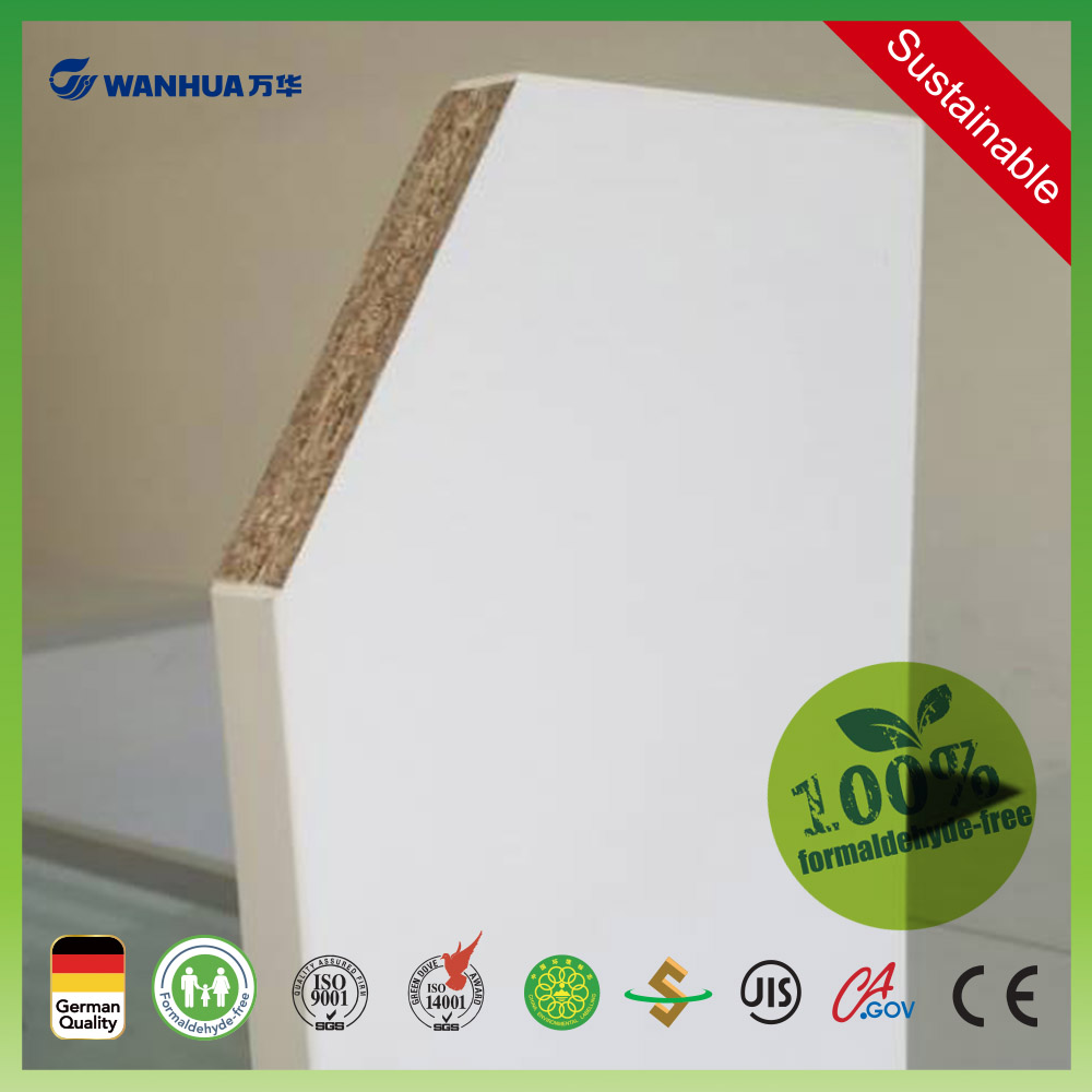 18mm white melamine faced chipboard