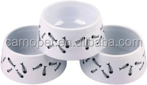 Plastic pet bowls, dog bowl with anti-slip rubber ring