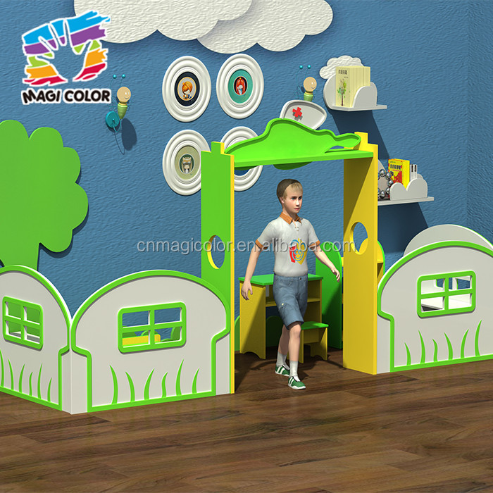 Wholesale funny preschool wooden playhouse for kids best design classroom wooden playhouse for kids W08C182