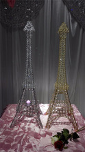 Eiffel Tower silvery/golden wedding candle stand centerpieces for wedding decoration